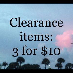 Clearance Items!
